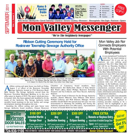 b56f7e839 Mon Valley Messenger September 2011 by South Hills Mon Valley ...