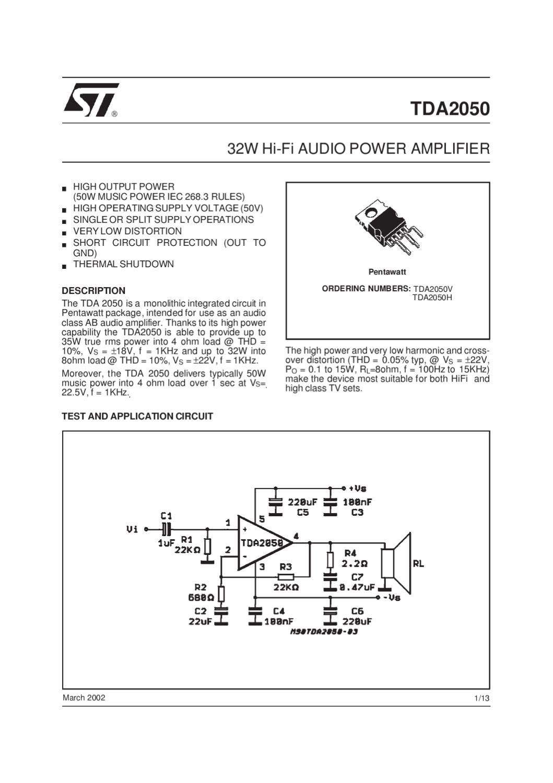 Xcs By Electroringa Web Issuu Figure 1 Tda2050 Typical Hifi Amplifier Schematic