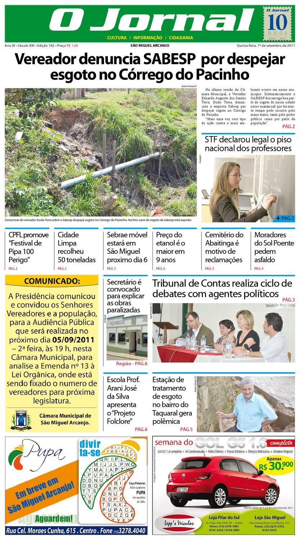 9bf311f2bf423 O Jornal - São Miguel Arcanjo by FOLHA SAO MIGUEL - issuu