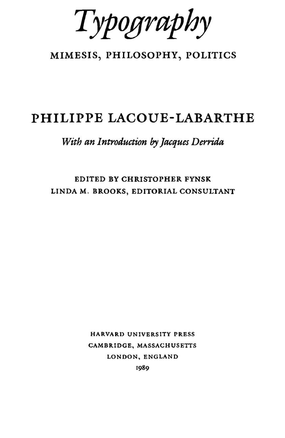 Typography Mimesis Philosophy Politics By Ivan Radenkovic