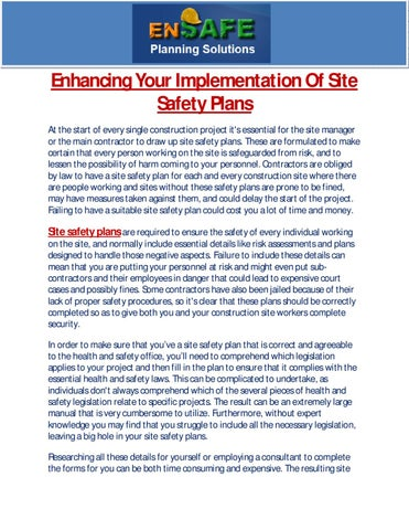 Enhancing Your Implementation Of Site Safety Plans By Martin Gerardo
