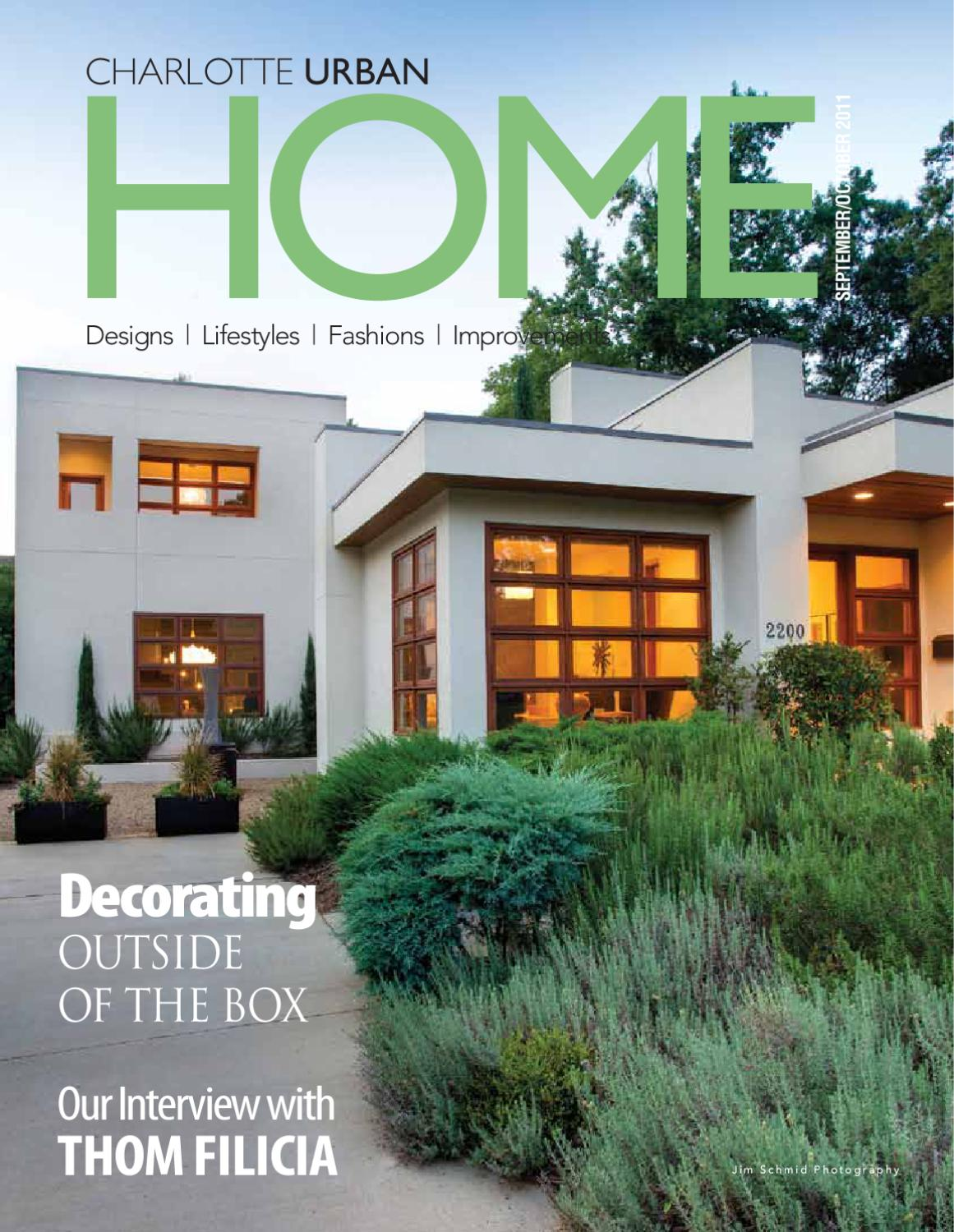 urban home design. Urban Home Sept Oct 2011 Issue Charlotte Design  amp Decor Magazine by