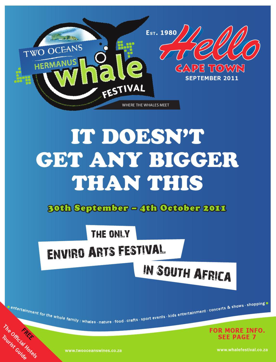 Hello Cape Town Magazine September 2011 By Hello Cape Town