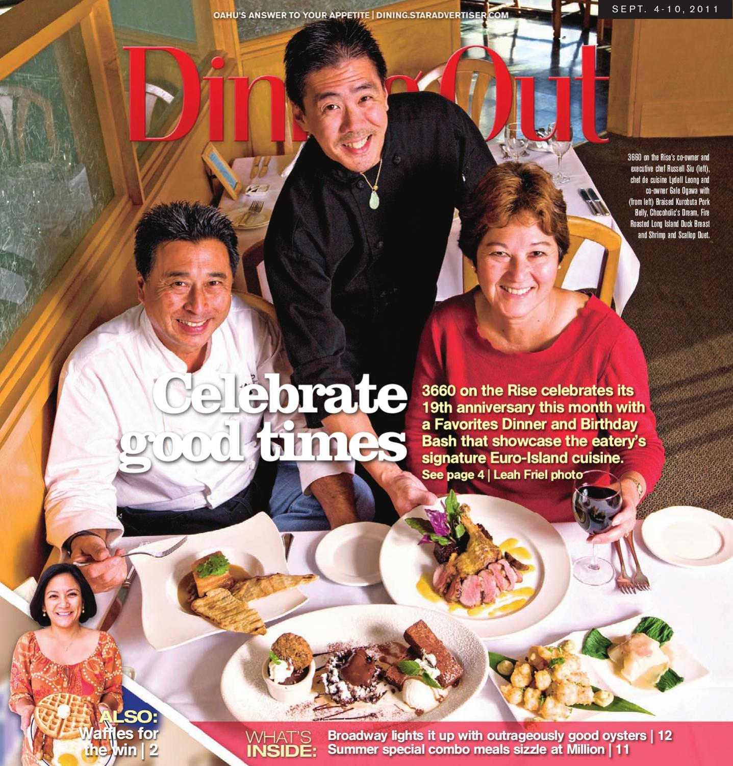 Hawaii DiningOut Sep 4, 2011 By Oahu Publications, Inc