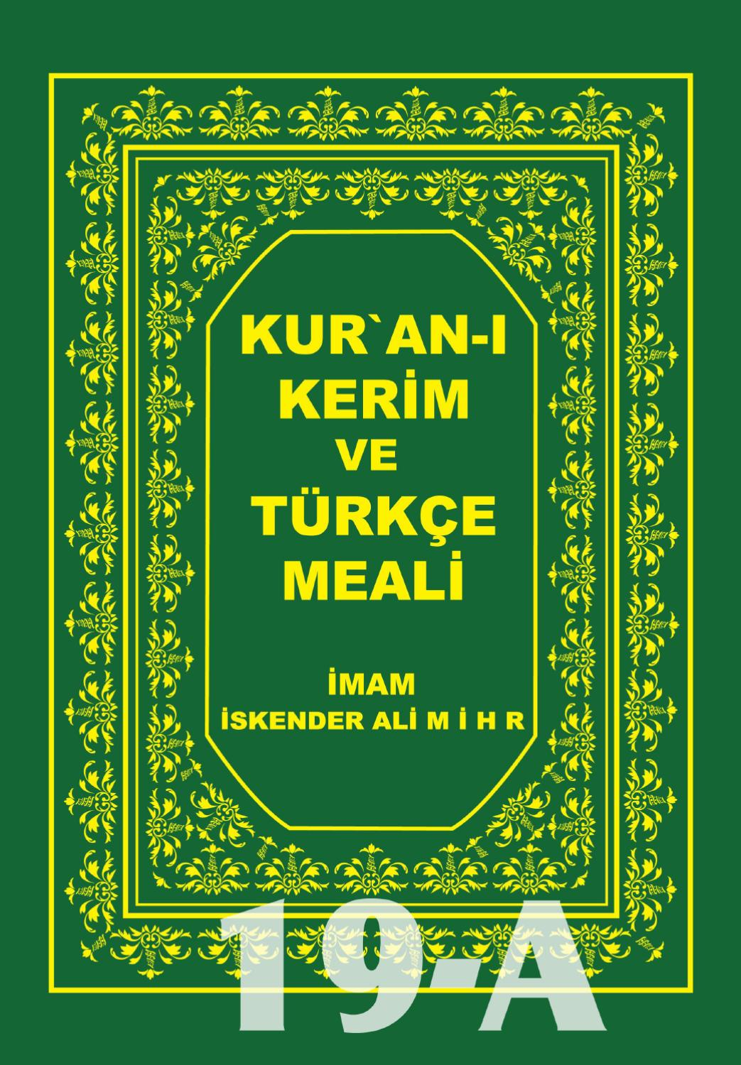 19 Cilt Kuran I Kerim By Mihr Publication Issuu