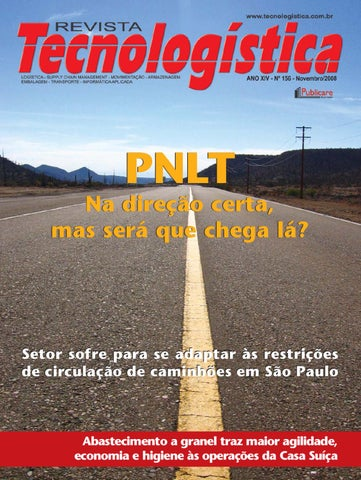 Revista Tecnologística - Ed. 156 Novembro 2008 by Publicare - issuu e52a0fc201