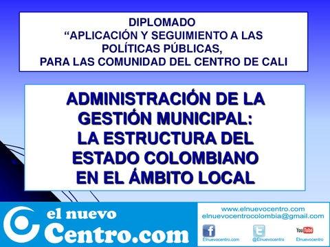 Estructura Del Estado Colombiano By Carlos M Gomez Issuu