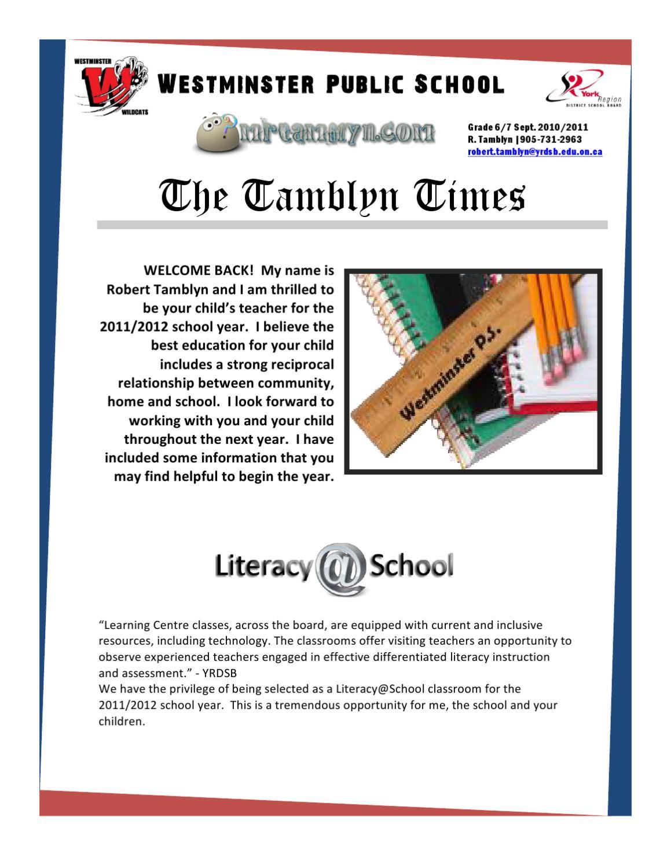 Tamblyn Times Sept 2011 6/7 by Robert Tamblyn - issuu