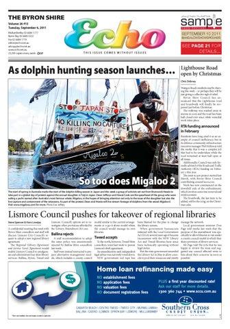 f910688a6a Byron Shire Echo – Issue 26.13 – 06 09 2011 by Echo Publications - issuu
