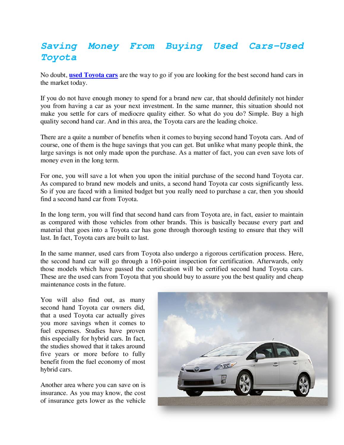Used toyota 2 by thao trinh issuu xflitez Images