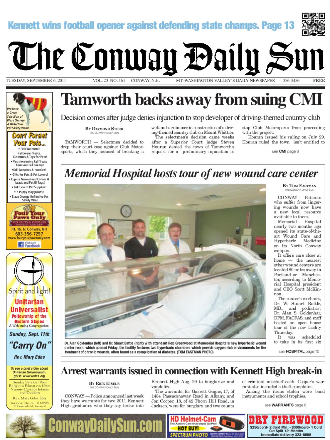 The Conway Daily Sun, Tuesday, September 6, 2011 by Daily Sun - issuu 11b40e2a04c6