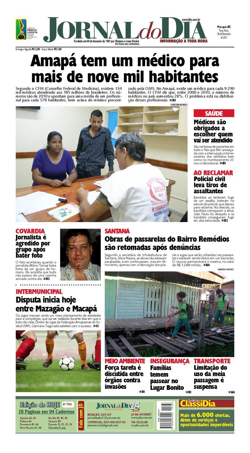 ef9fc914758 Jornal do Dia 06 09 2011 by Jornal Do Dia - issuu