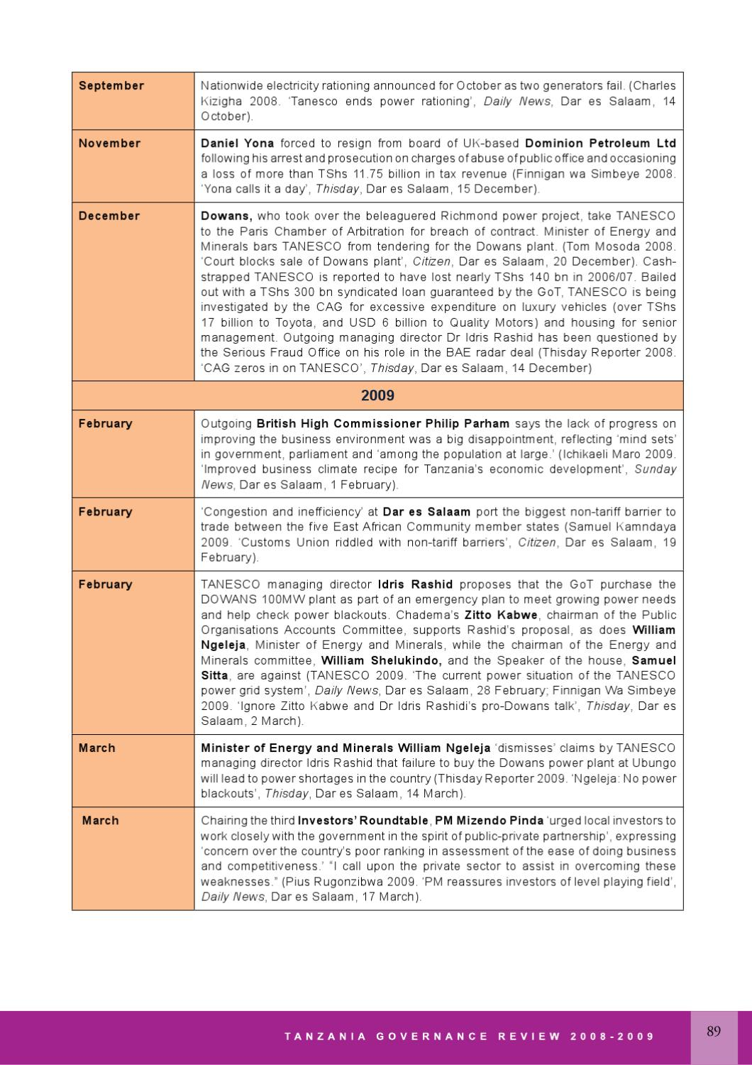 Tanzania Governance Review 2008/2009 by vijanaforum - issuu
