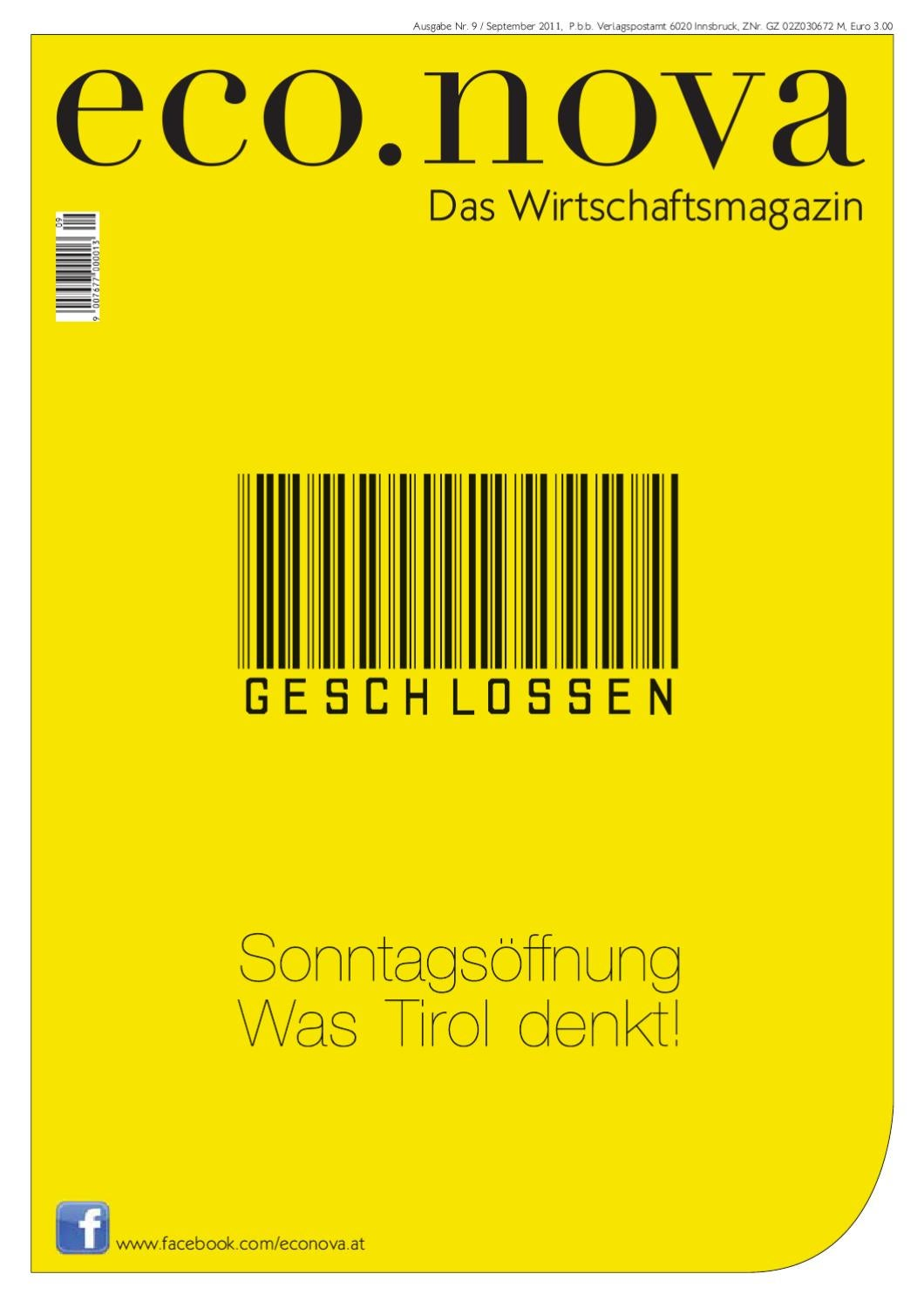 ecova Wirtschaftsmagazin September 2011 by ecova verlags