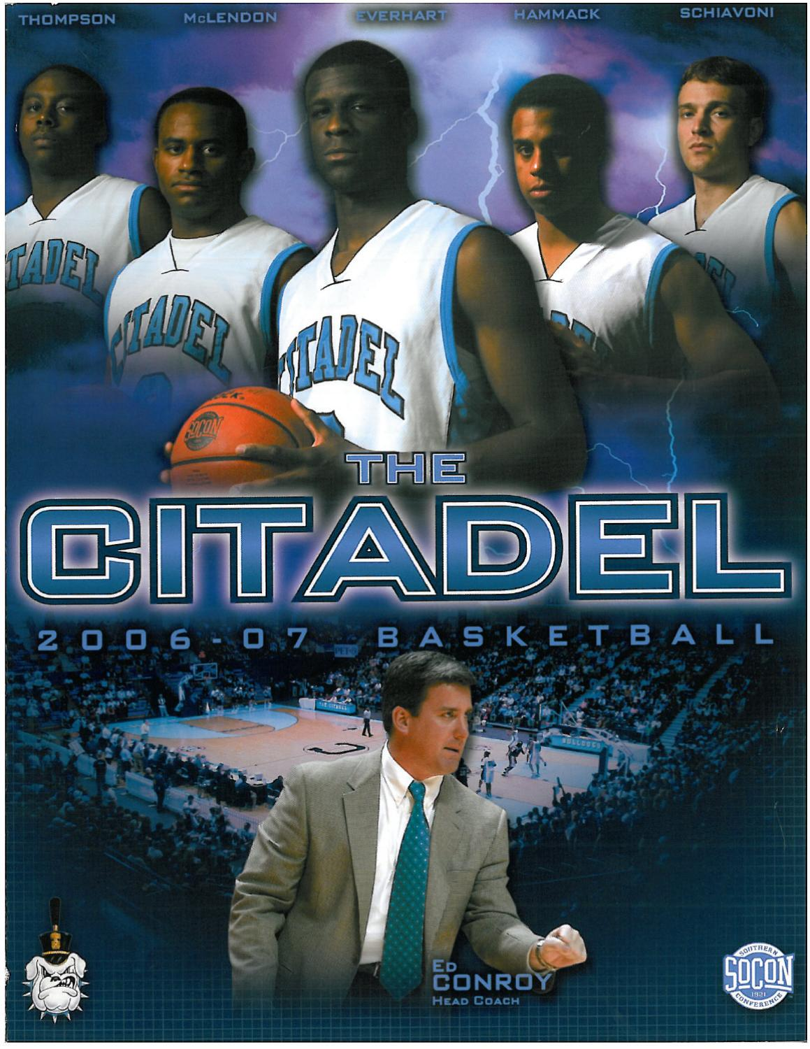 2006-07 The Citadel Basketball Media Guide by Jon Cole - issuu