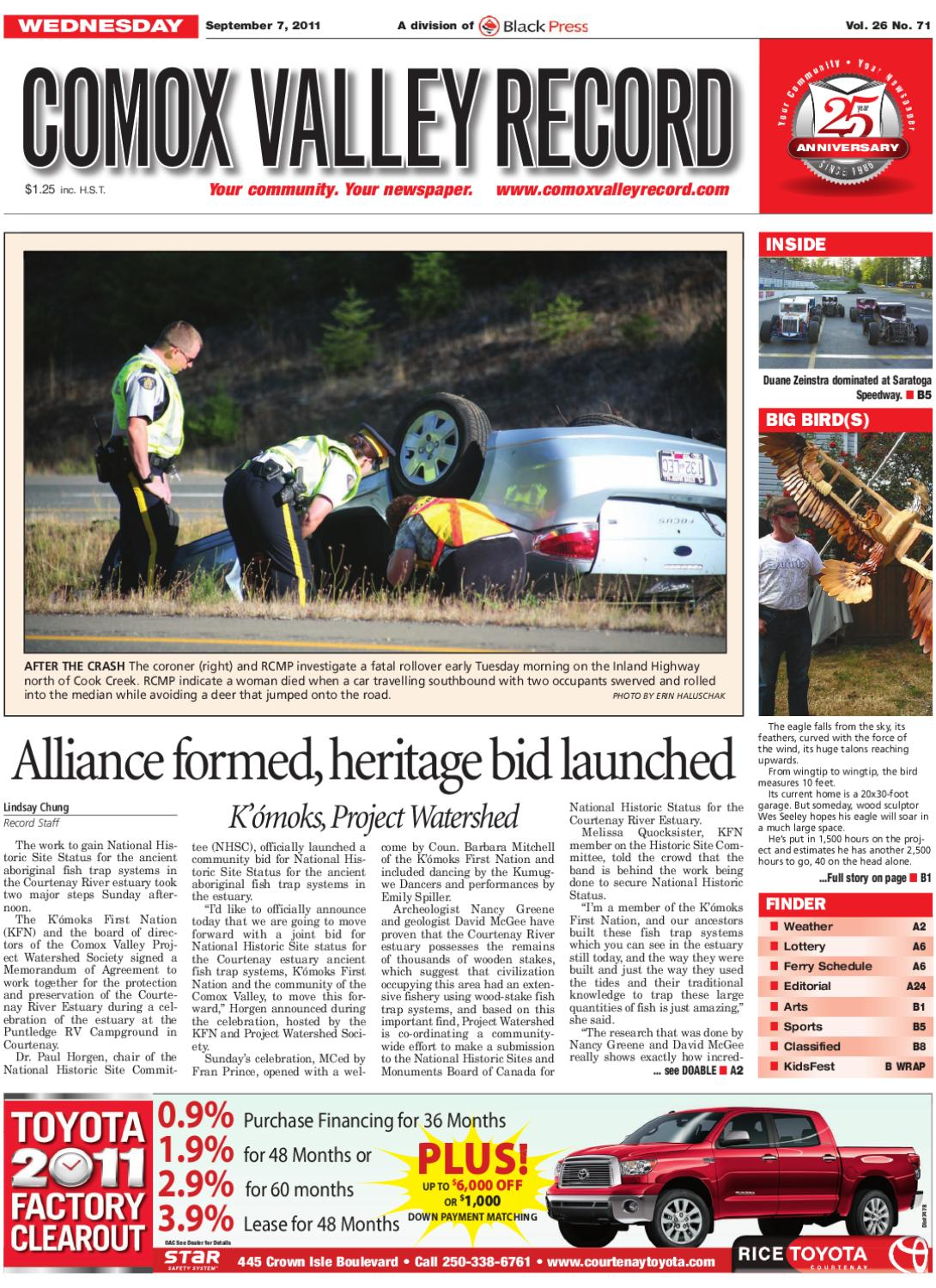 Wed September 7 2011 Comox Valley Record By Comox Valley Record Newspaper Issuu