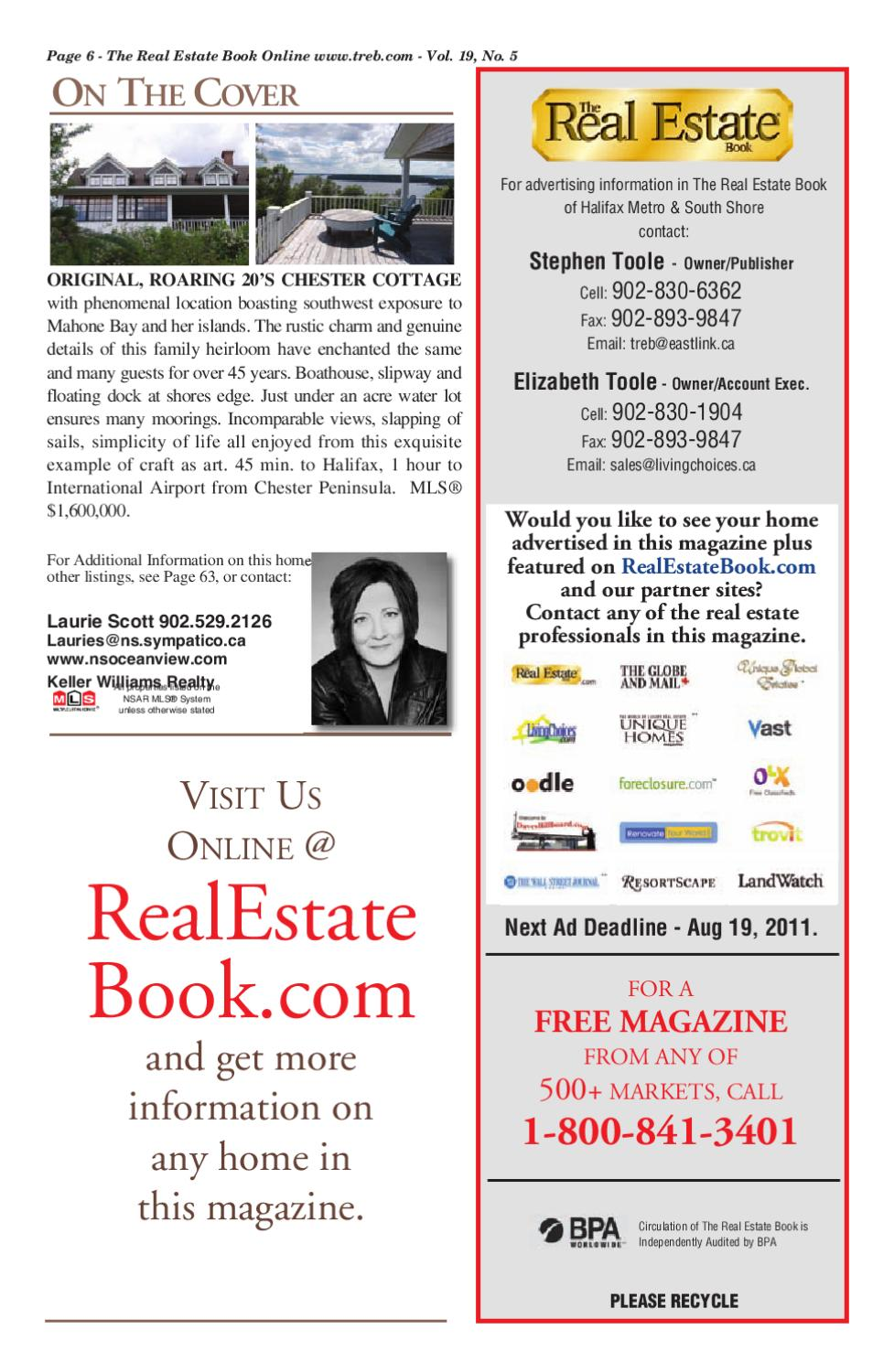 The Real Estate Book NS Vol 19#5 by The Real Estate Book Nova Scotia