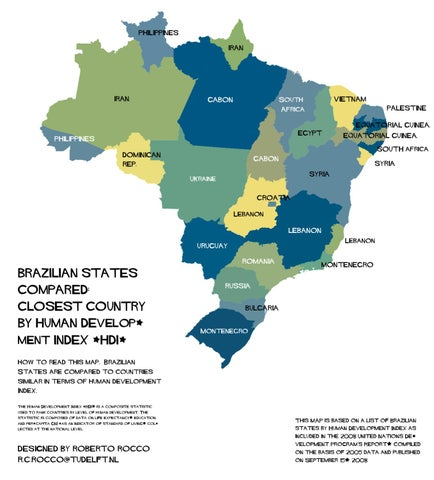 Brazilian States Human Development Index Compared by Roberto Rocco