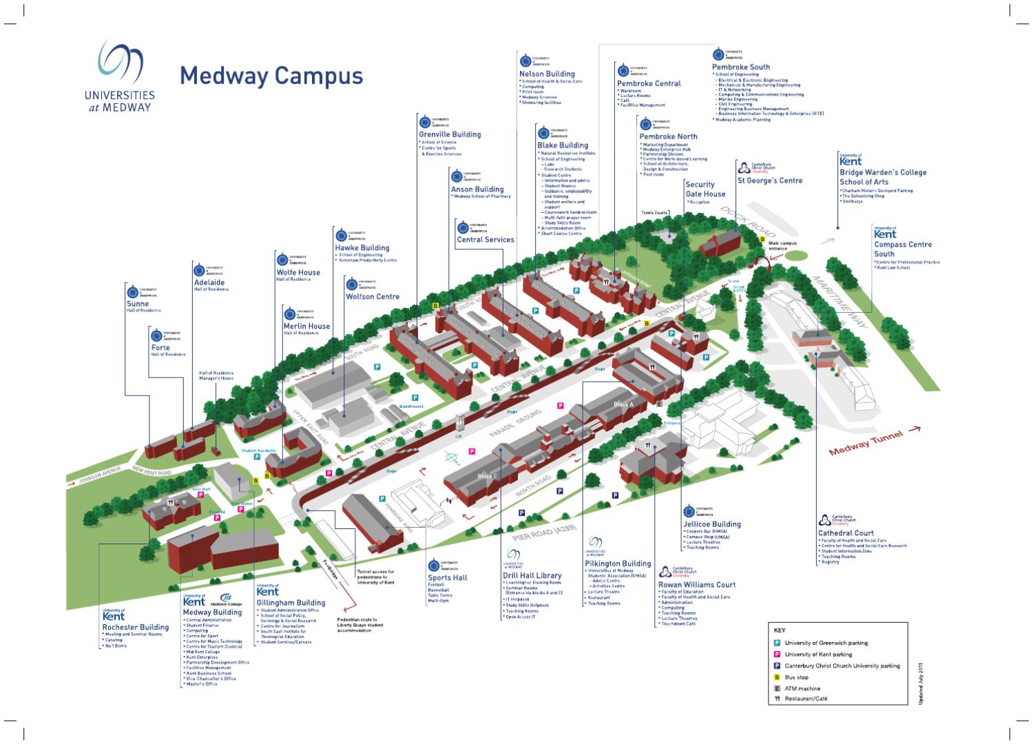 Universities at Medway campus map by University of Kent - issuu on