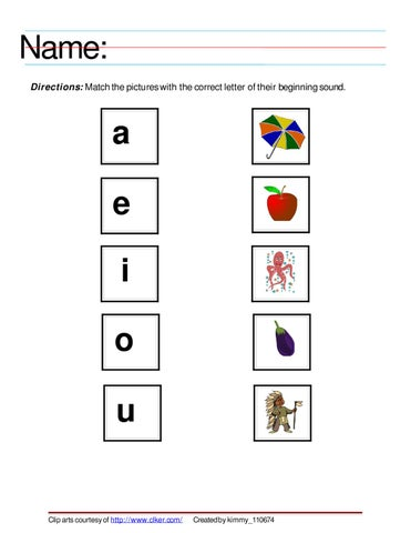 Worksheet On Vowel Sounds By Kim Laxa Issuu
