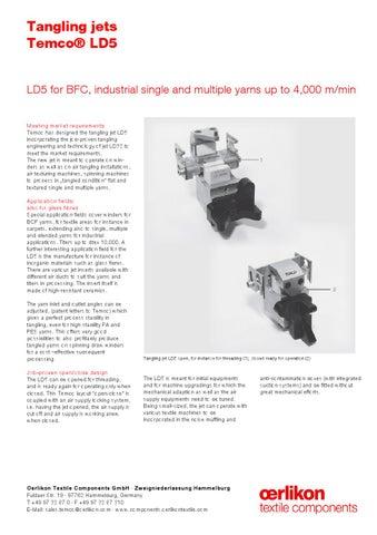 LD5-FE pdf by Oerlikon Textile GmbH & Co  KG - issuu