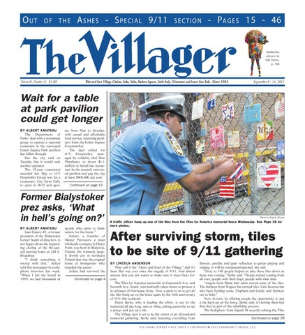b7578ad373766 The Villager September 11 Commemorative Edition by Schneps Media - issuu