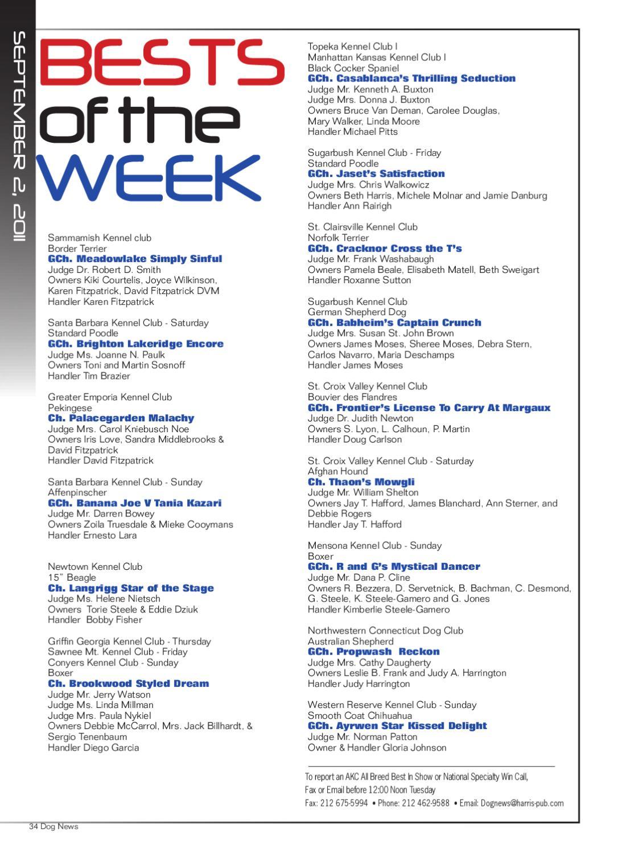 dog news  sept  2  2011 by dog news