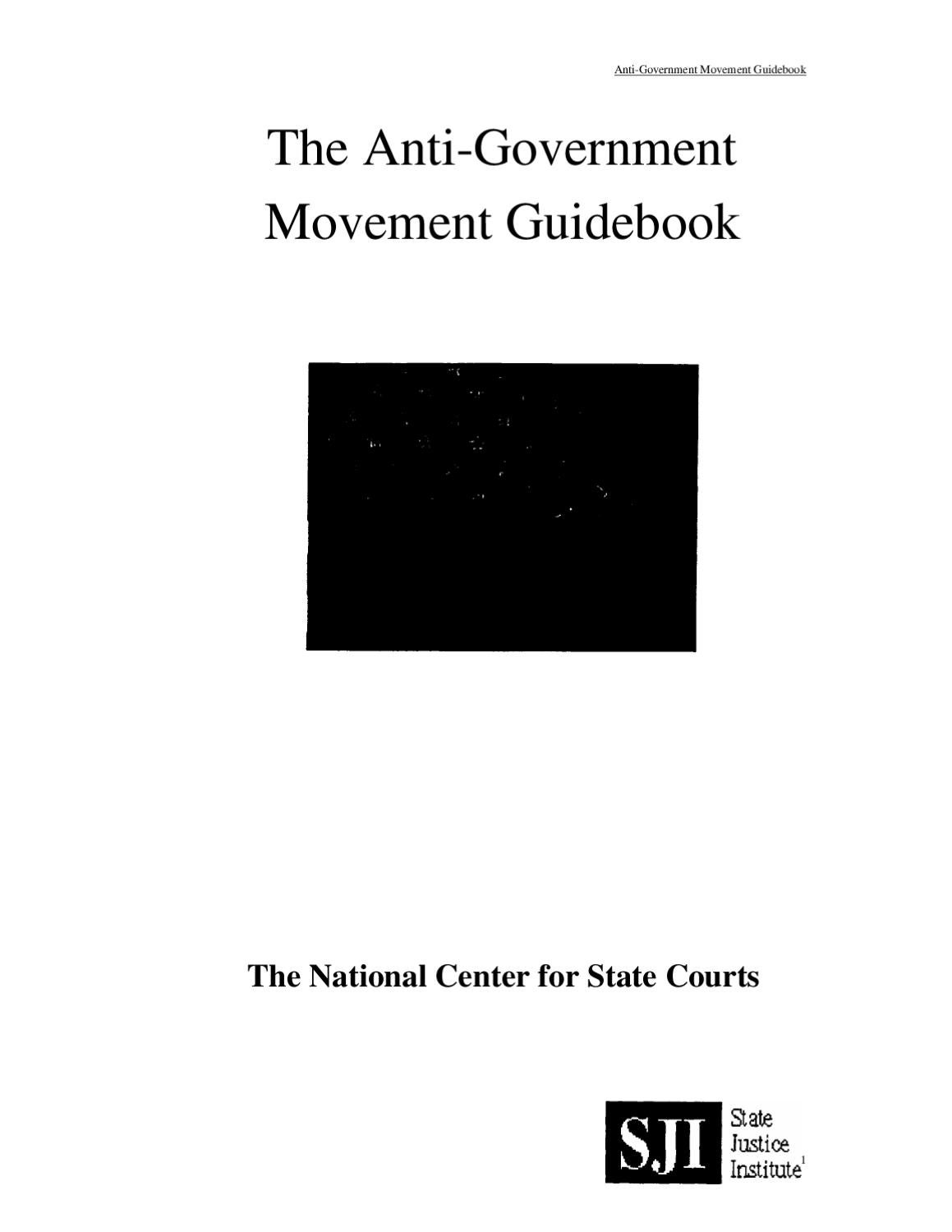 Anti-Goverment Movement Guidebook Law Handbook by Andrea