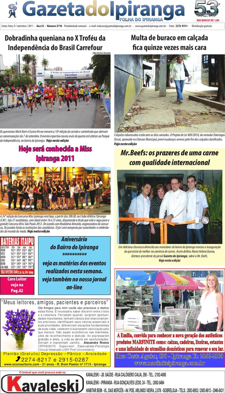 70e331420 Gazeta do Ipiranga - Edição de 09 - 09 -2011 by Casé Oliveira - issuu
