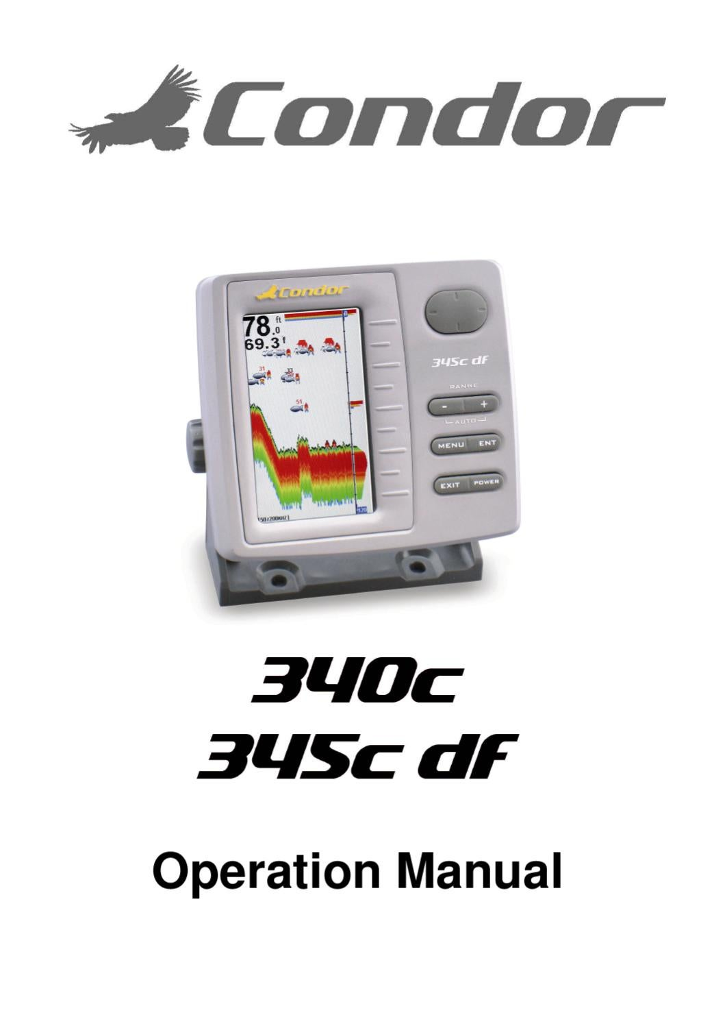 Condor Fish Finder 340 345c Df User Manual By Jarvis Walker Issuu Wiring Diagram For Depth