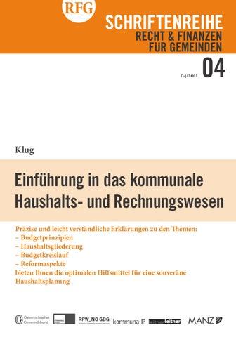 Rfg Schriftenreihe 42011 Einführung In Das Kommunale Haushalts