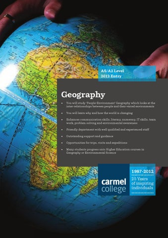 AS A2 Level 2012 Entry Geography