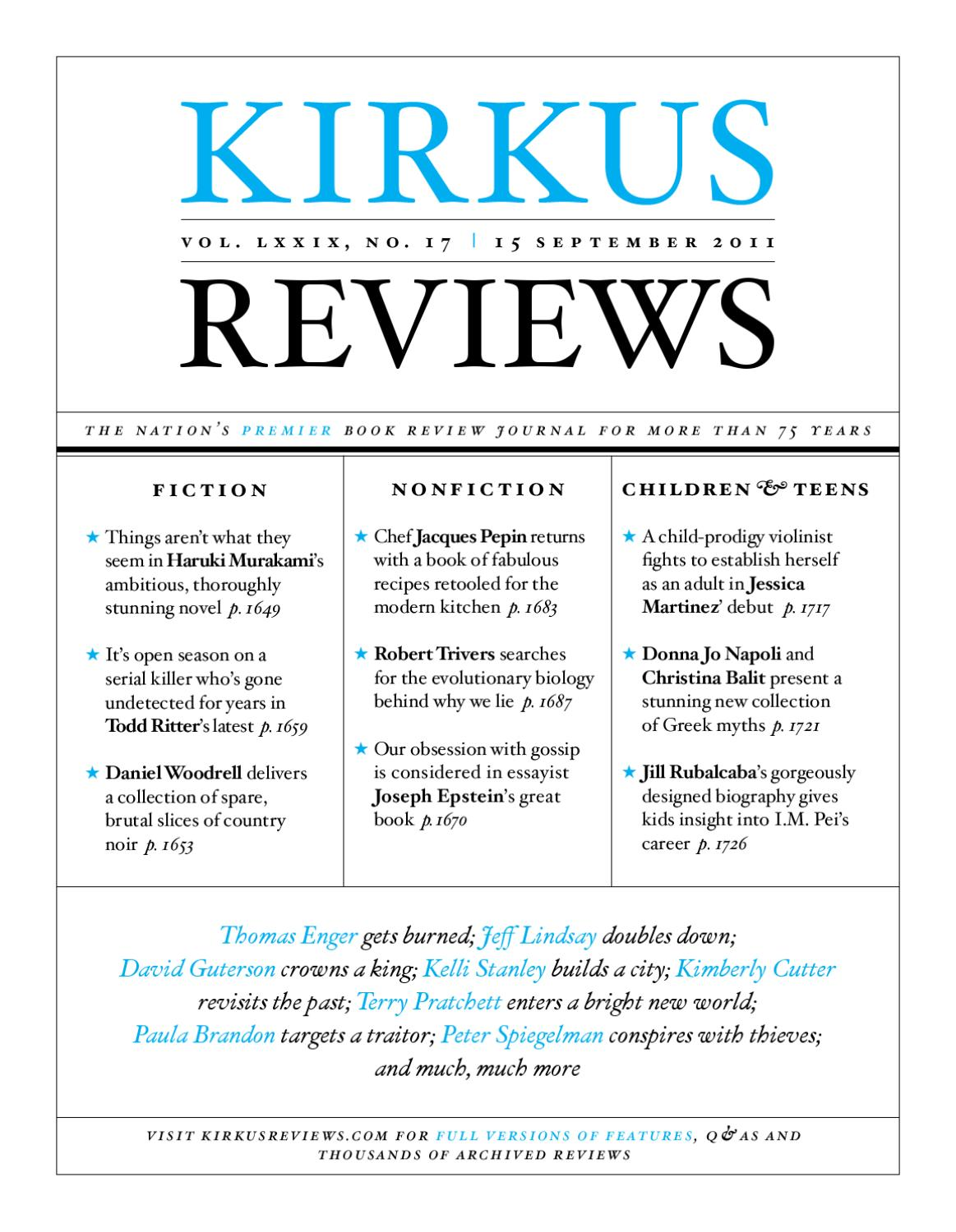 Issuu 17 September Lxxix Volume 2011 15 Reviews Kirkus By No PqqHvCWcO