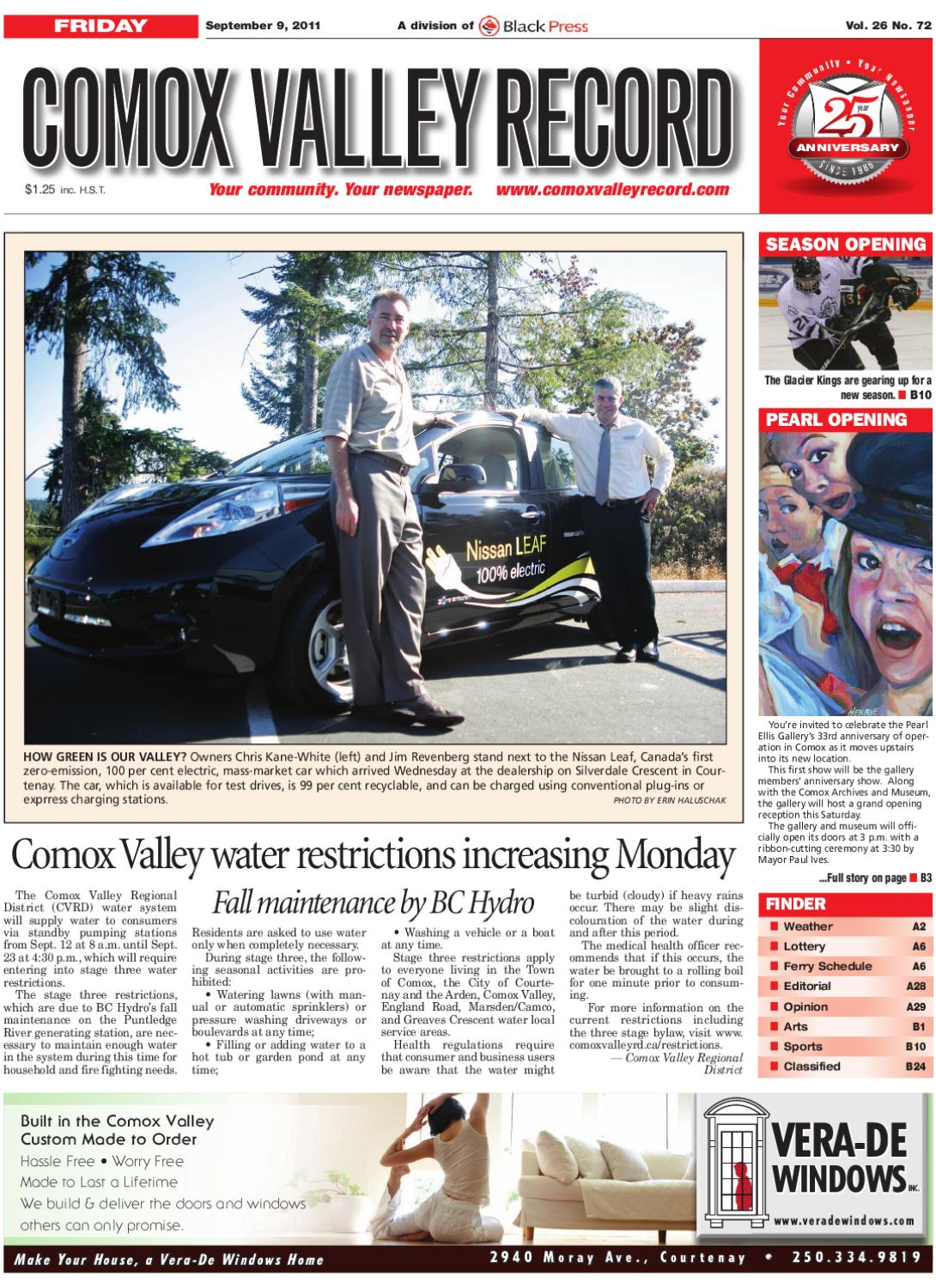 Fri September 9, 2011 Comox Valley Record by Comox Valley Record