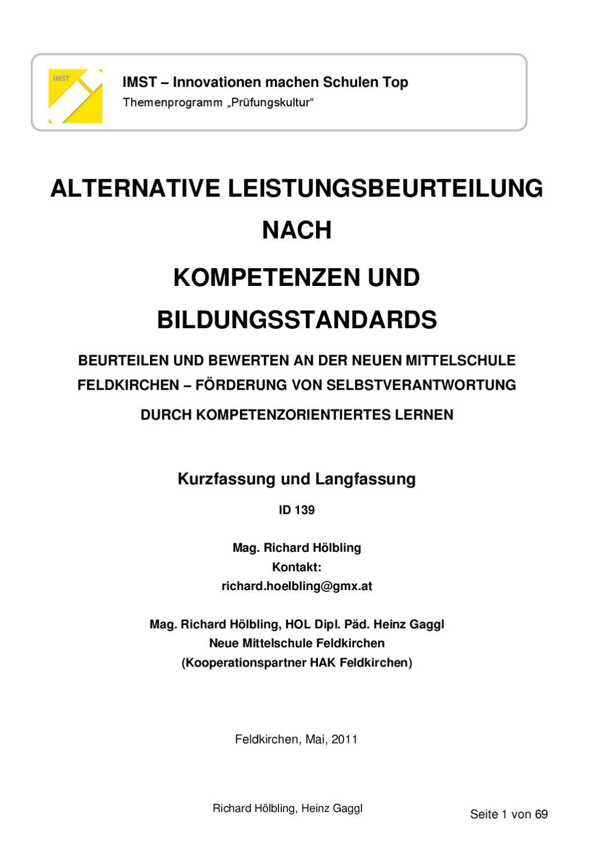Beurteilung an der NMS Feldkirchen - kurz und bündig by Richard ...
