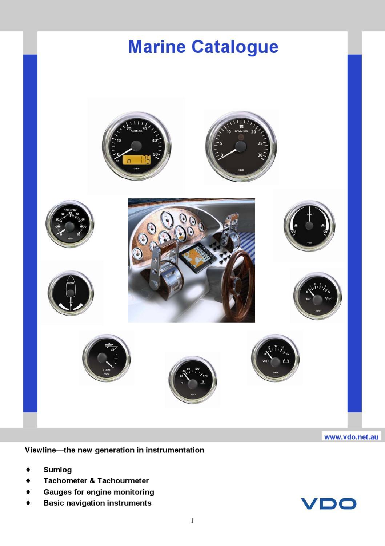 Viewline Marine Catalogue 2010 11 By Howard Instruments Issuu Vdo Tachometer Wiring Diagram 1 Min