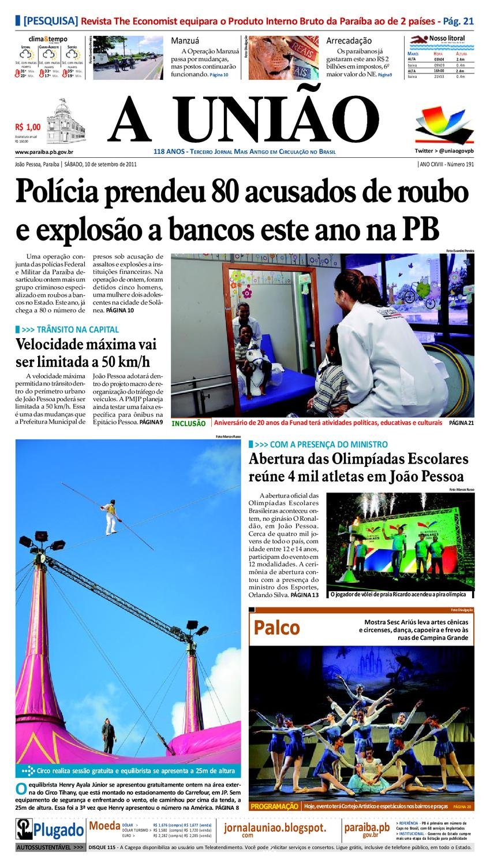 JORNAL A UNIÃO by Jornal A União - issuu 827f775196