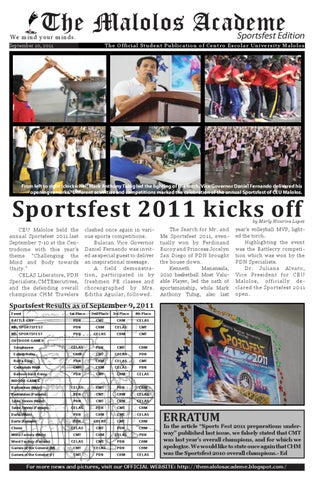 The Malolos Academe Sportsfest Edition by The Malolos ...
