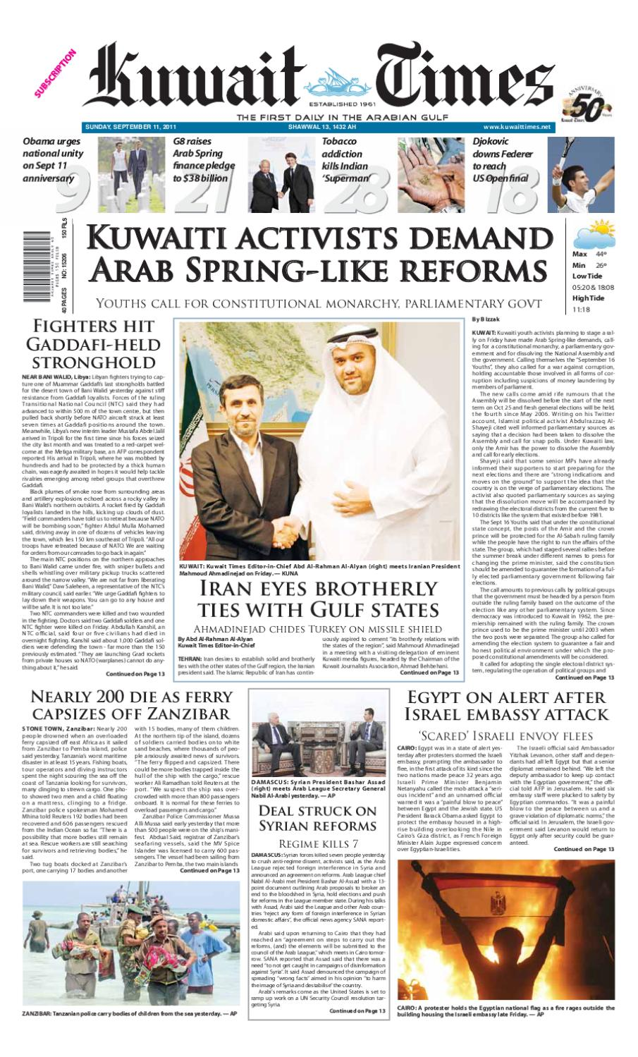 11 Sep by Kuwait Times - issuu