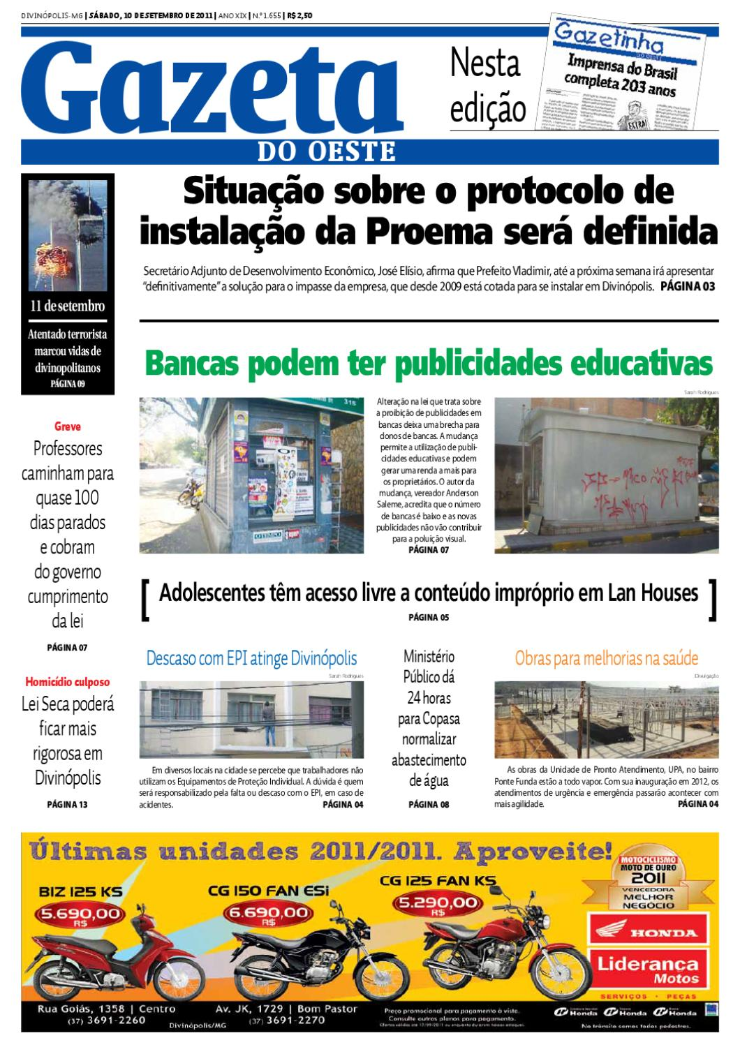 Gazeta do Oeste by Dacio Fernandes - issuu bfb1583a4c