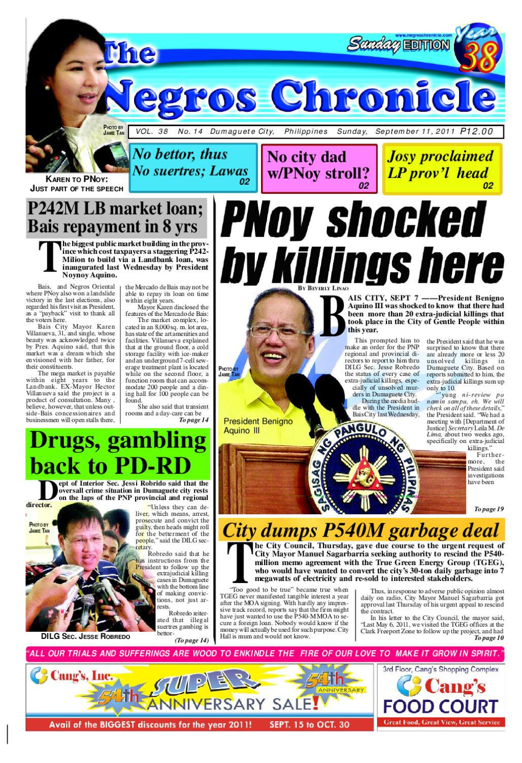 The Negros Chronicle September 11, 2011 issue by Gerard