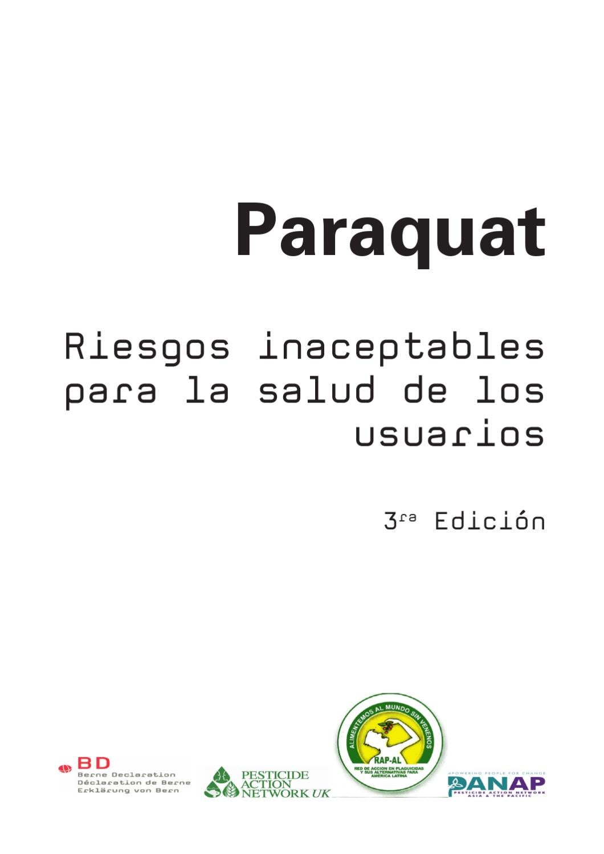 Paraquat - Paraquat - Riesgos inaceptables para la salud de los ...