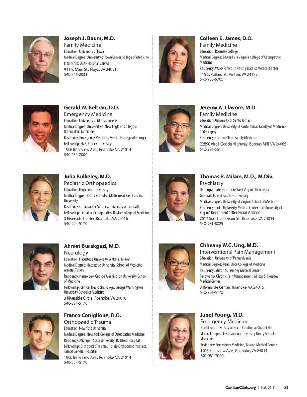 Carilion Clinic Living - Fall 2011 by Carilion Clinic - issuu