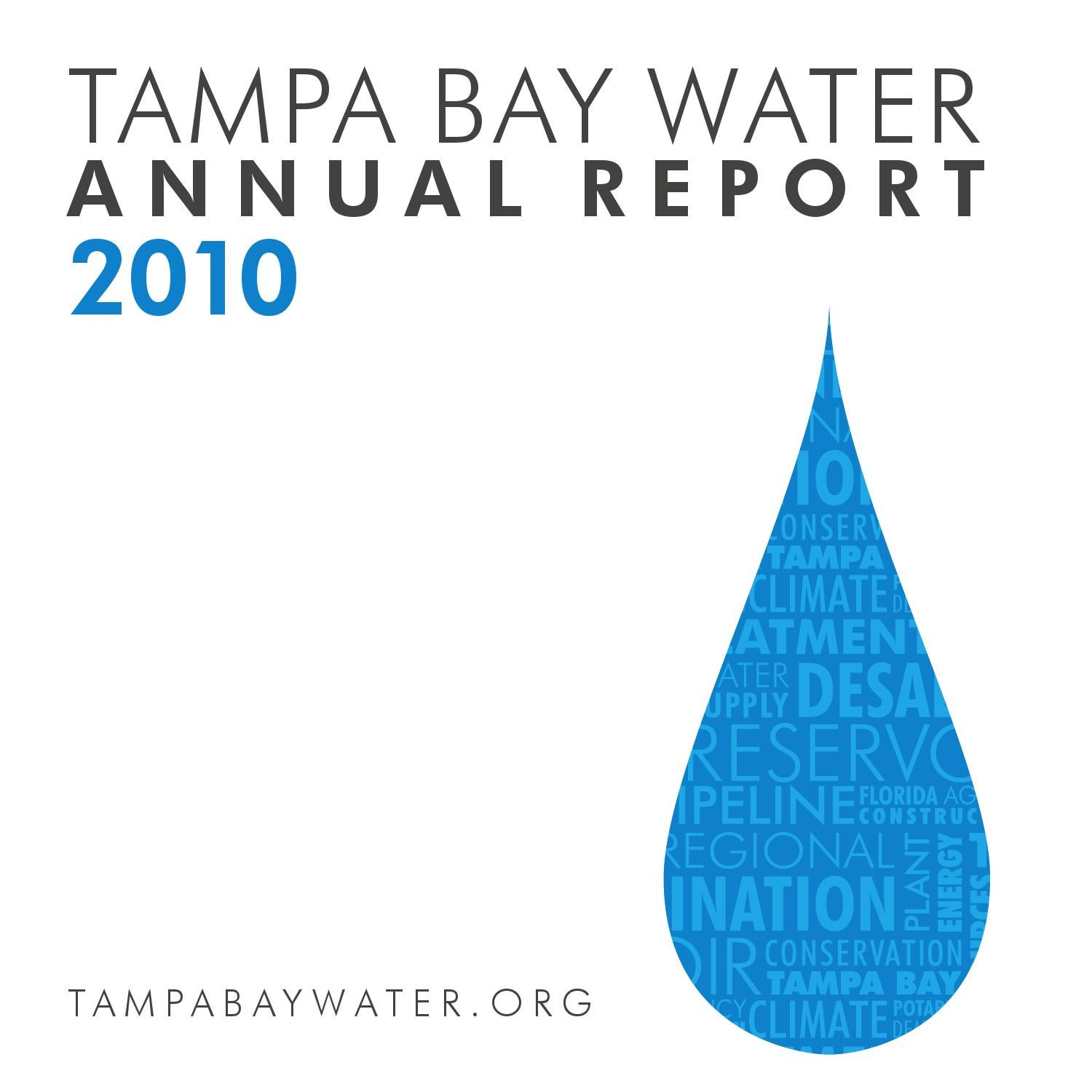 Annual Report 2010 for web by Tampa Bay Water issuu