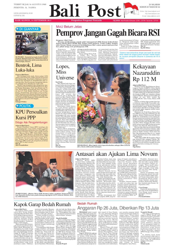Edisi 14 September 2011   Balipost.com by e-Paper KMB - issuu