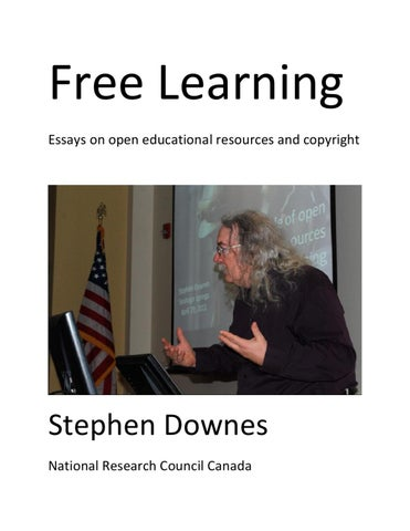 Free Learning  Essays On Open Educational Resources And Copyright  Free Learning Essays On Open Educational Resources And Copyright