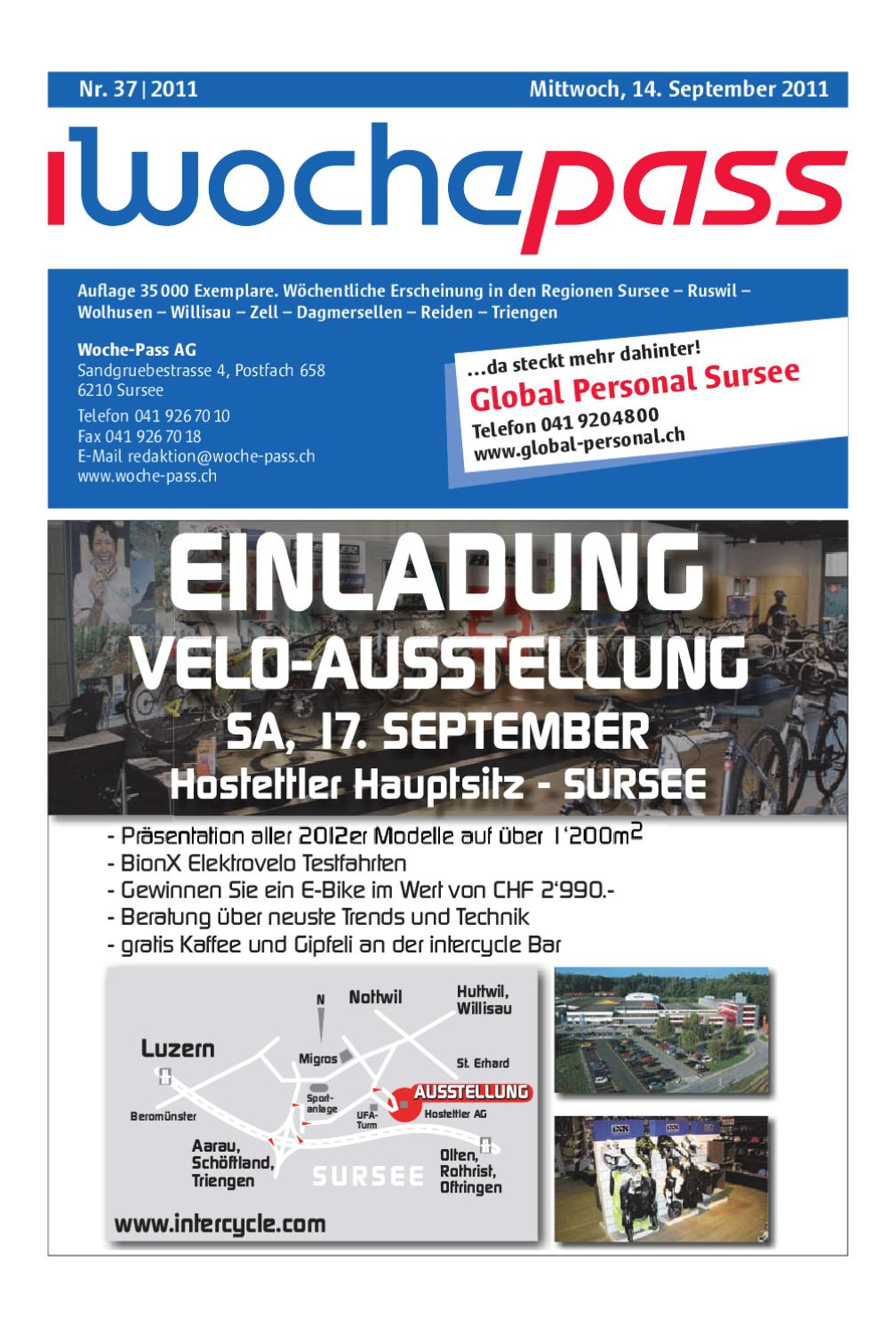 Woche Pass Kw37 14 September 2011 By Woche Pass Ag Issuu