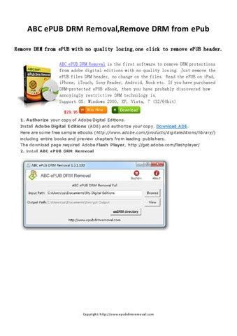 Adobe Epub Drm Removal