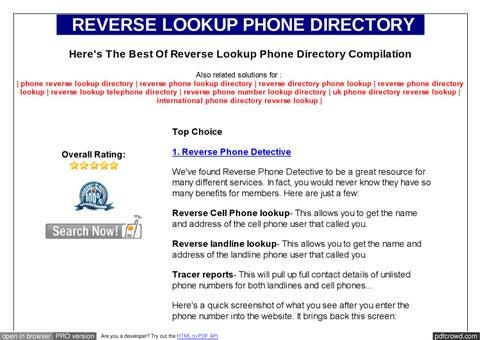 free phone number lookup by denismark mark - issuu