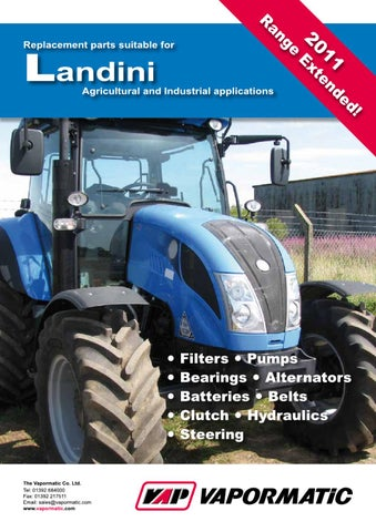vapormatic landini replacement parts by the vapormatic co ltd issuu rh issuu com Landini Parts8860 Landini Tractor Salvage
